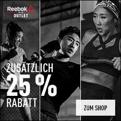 Reebok: Nur heute EXTRA -25% on auf Training & Fitness Outlet