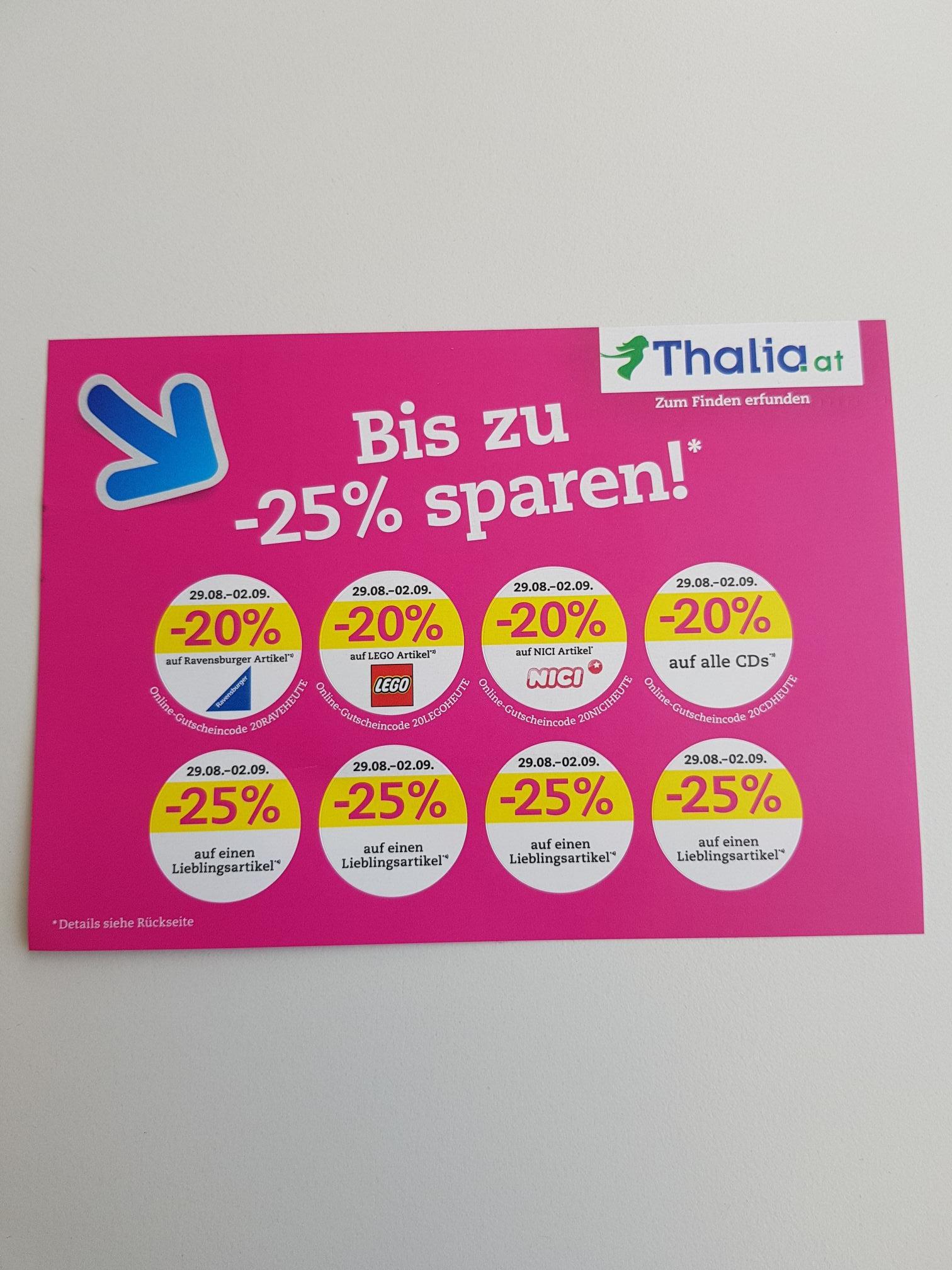 Thalia Rabattaktionen vom 29.8 - 2.9