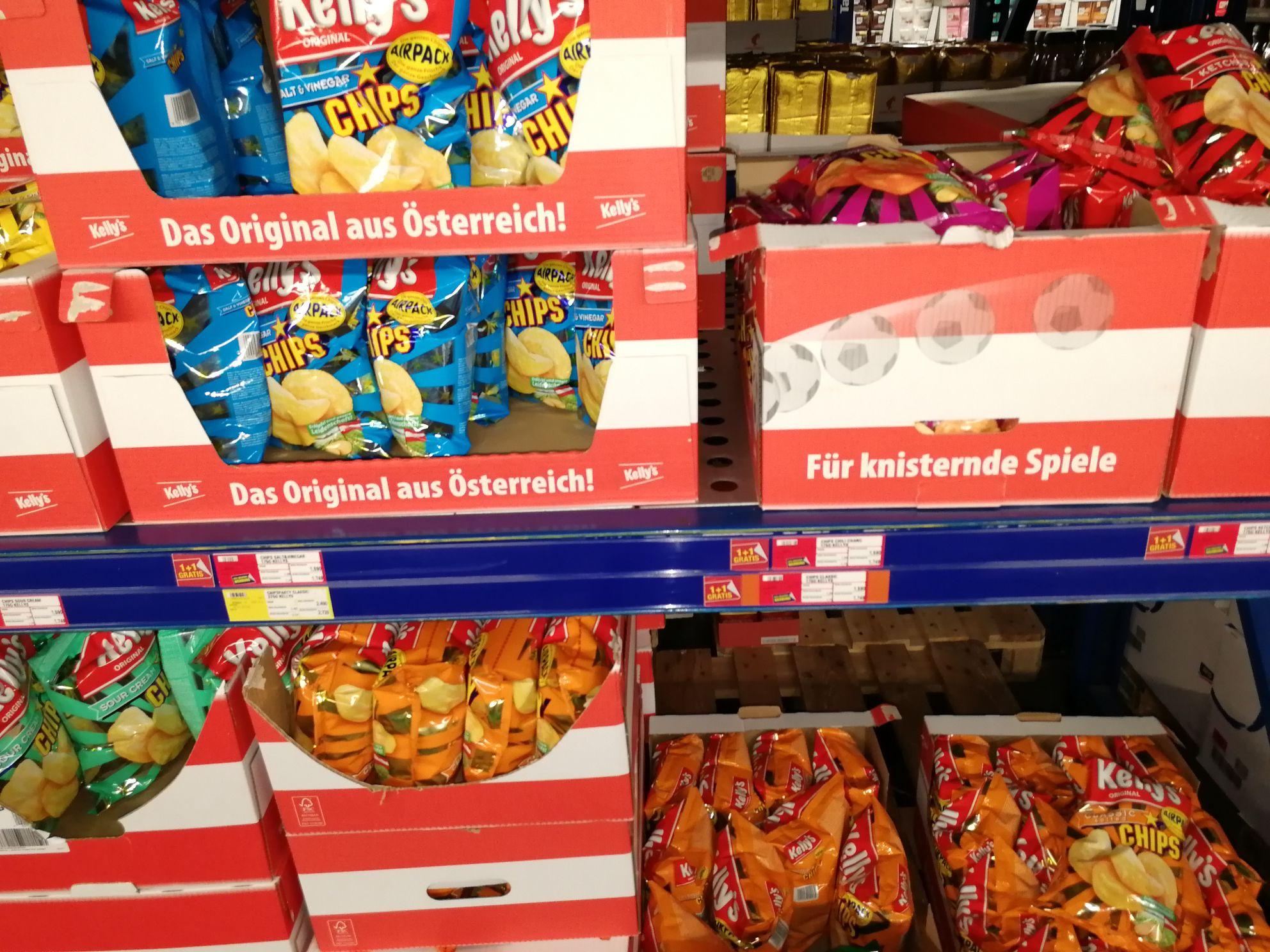Kellys Chips 1+1gratis bei Metro