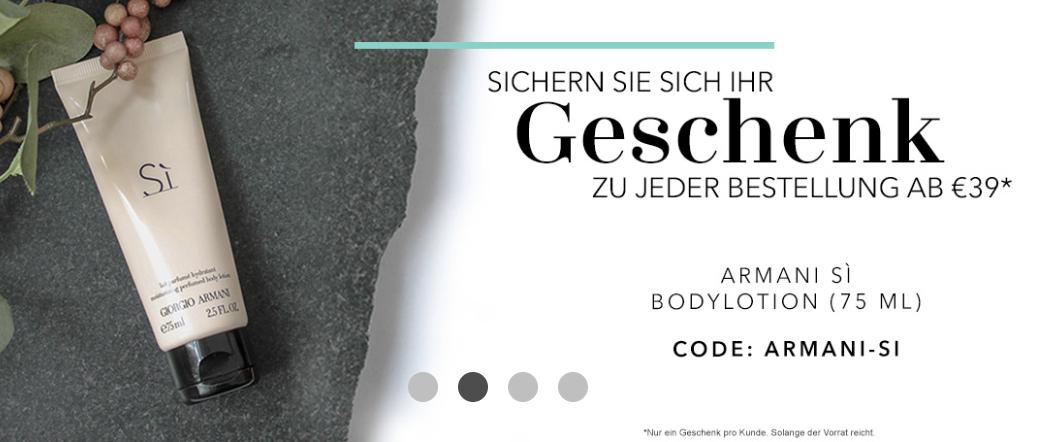 Douglas: Gratis Bodylotion Armani Sì ab Bestellung von 39€