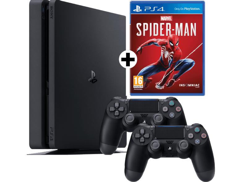 PS4 Slim Konsole 1 TB + 2 Controller+ Marvel's Spider Man für 284*