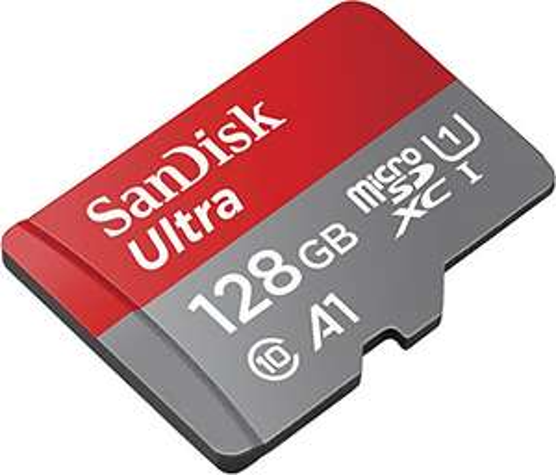 SanDisk Ultra 128GB microSDXC Speicherkarte + Adapter bis zu 100 MB/Sek, Class 10, U1,