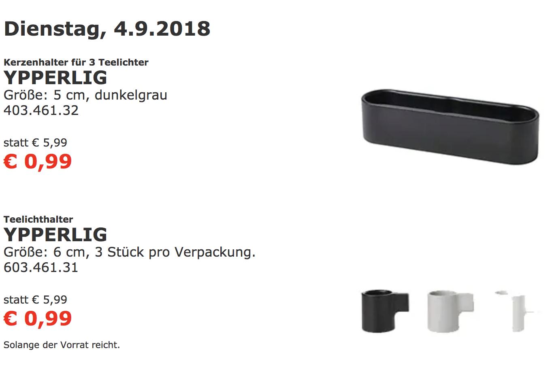 "Ikea Wien Nord: Teelichter ""YPPERLIG"""