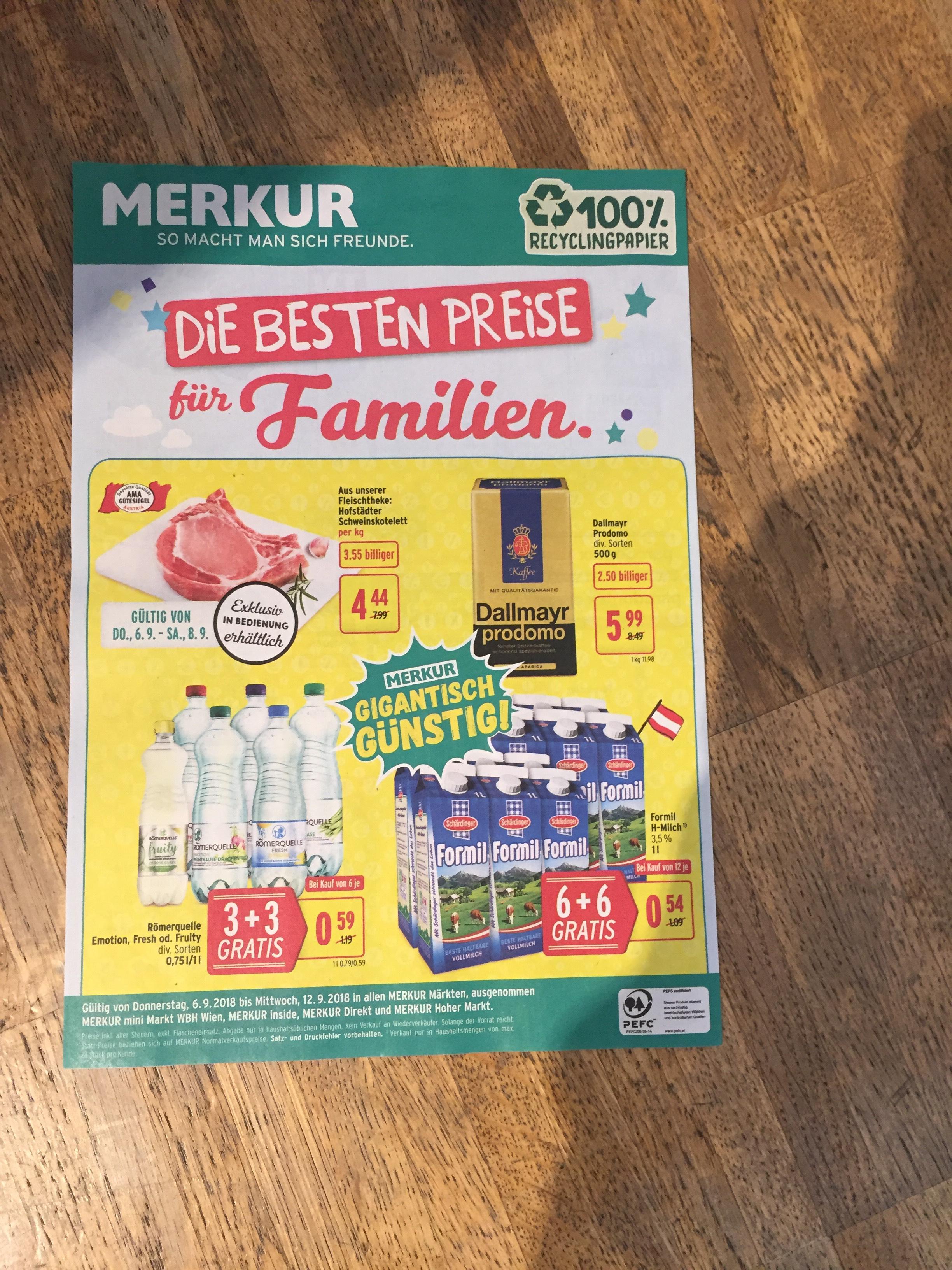 6+6 Gratis Haltbar Milch von Schärdinger bei Merkur