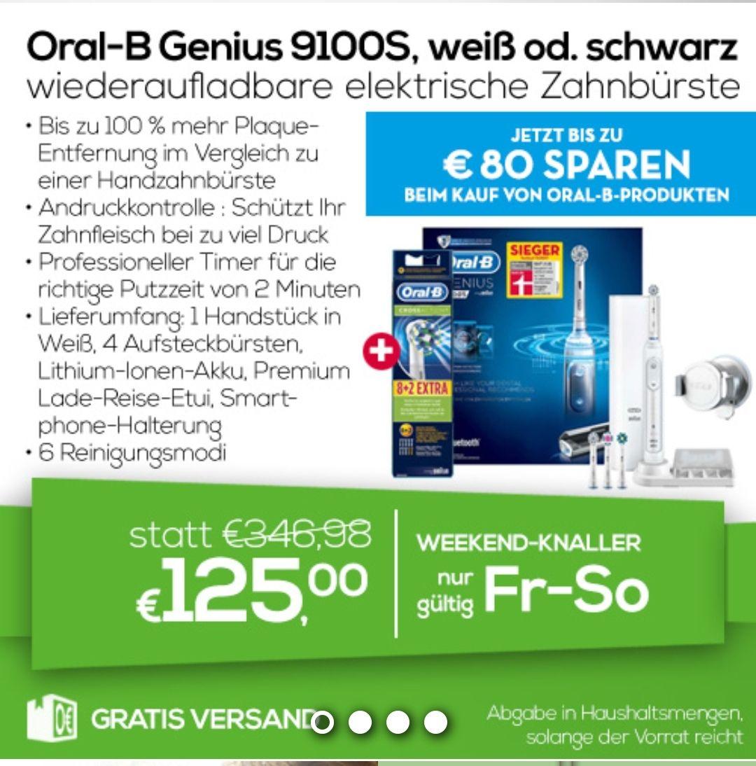 Oral-B Genius 9100s + 10 Aufsteckbürsten mit 25 Euro Cashback