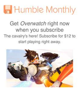 Overwatch im humble monthly bundle
