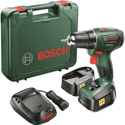 Bosch Akku-Bohrschrauber PSR1800Li-2 Set