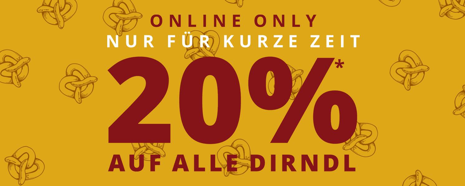 -20% auf Dirndl bei Peek und Cloppenburg online - nur heute Nacht !