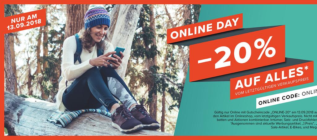 Hervis: Online Day -20% auf Alles*