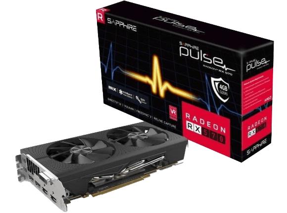 SAPPHIRE PULSE Radeon™ RX 570 8GD5 Grafikkarte  für 199€