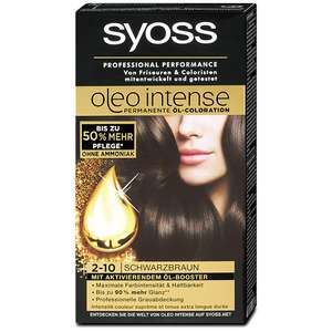 DM: syoss oleo intense Permanente Öl-Coloration schwarzbraun