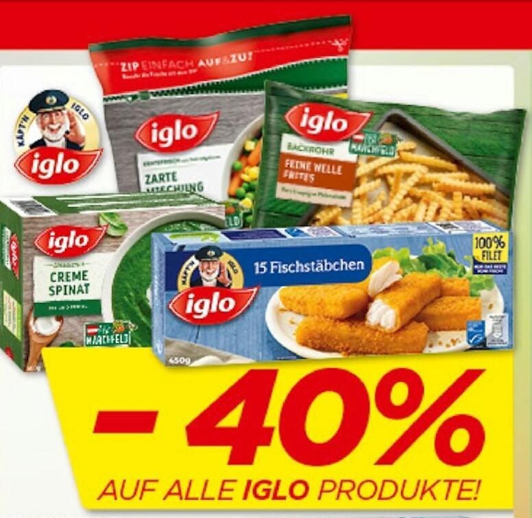 [Penny] -40% auf alle IGLO Produkte