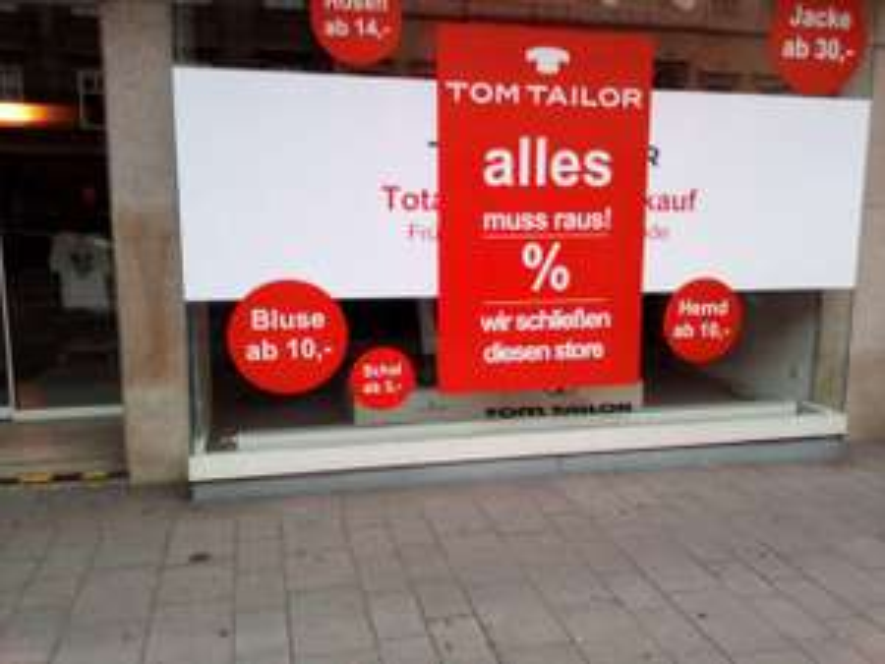 [Tom Tailor] TOM TAILOR Räumungsverkauf Landstraßer Hauptstraße 65 1030 Wien schließt