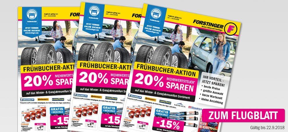Forstinger Frühbucher-Aktion