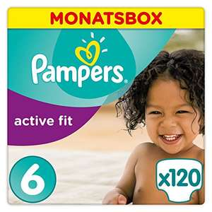 Amazon Deal: Pampers Active Fit Windeln, Gr.6, Extra Large 15+kg (1 x 120 Stück)