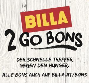 Neue Billa 2 Go Bons - bis 17.10.2018