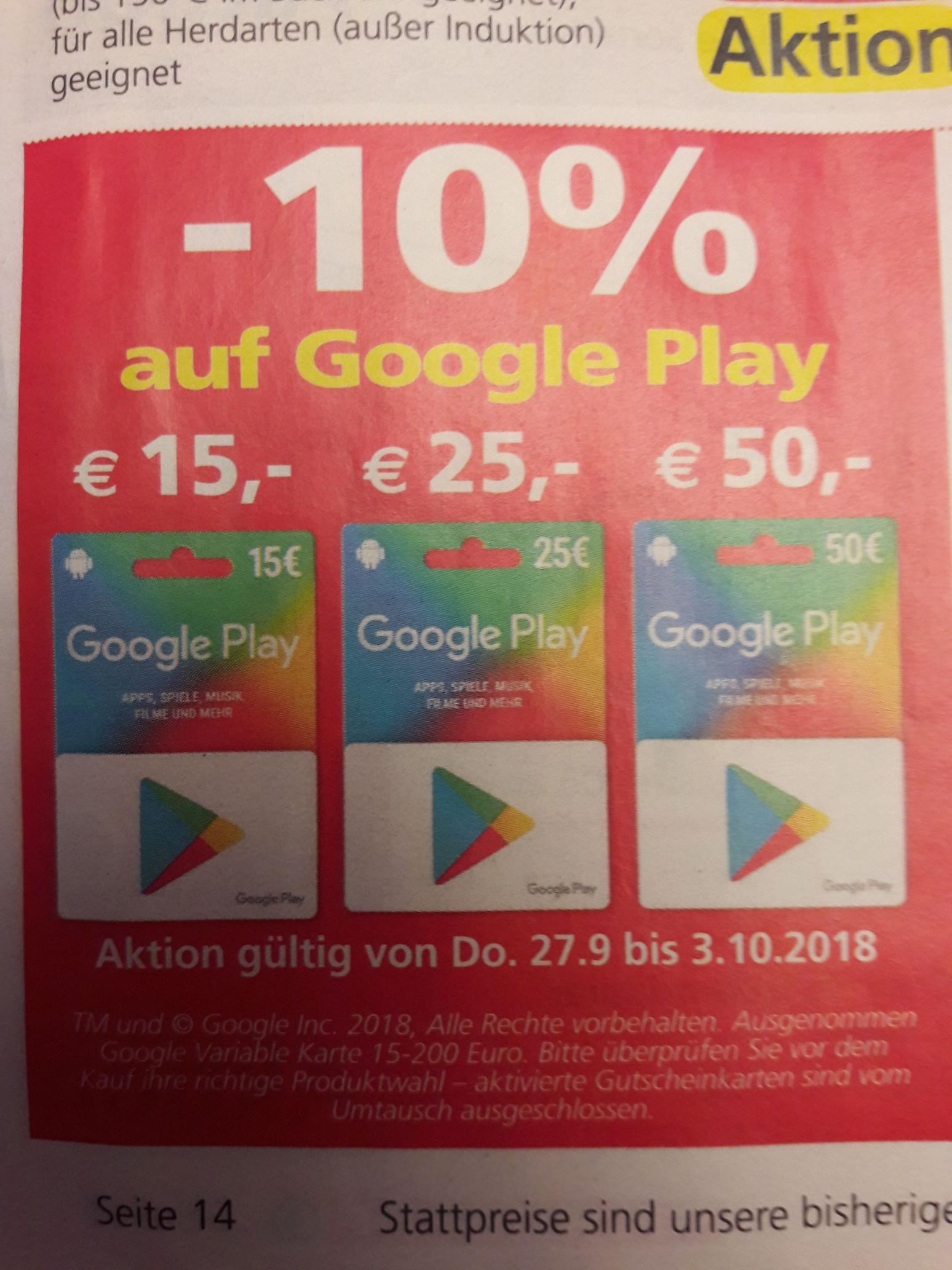 Eurospar Google Play -10%