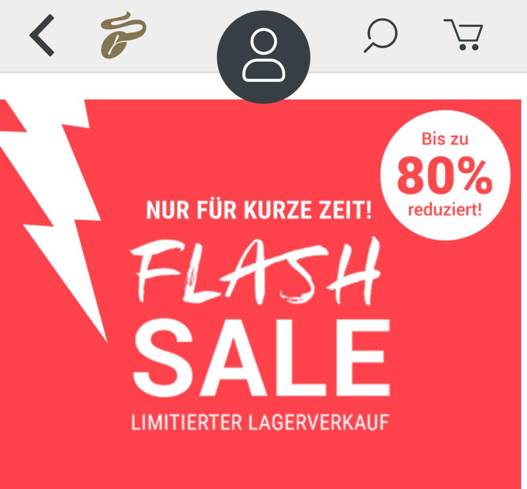 Tchibo Flash Sale Lagerverkauf - bis zu 80% reduziert