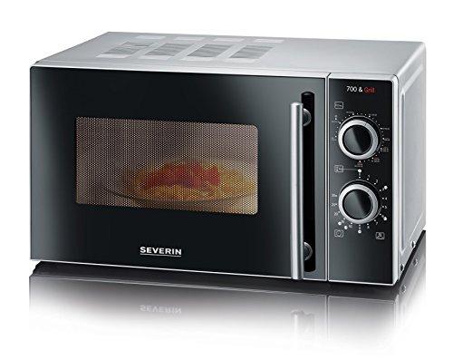 Amazon - SEVERIN 2-in-1 Mikrowelle, Mit Grillfunktion, Inkl. Grillrost und Drehteller (Ø 24,5cm), 700W, MW 7875, Silber 61,95 Euro