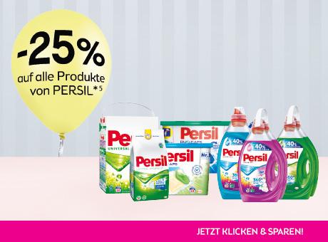 -25% auf Persil Produkte (mit Marktguru zusätlich €2 Cashback)