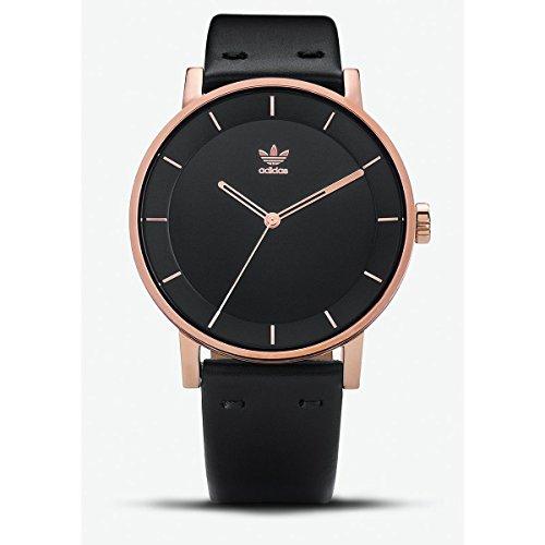 Adidas Damen Analog Quarz Uhr mit Leder Armband Z08-2918-00