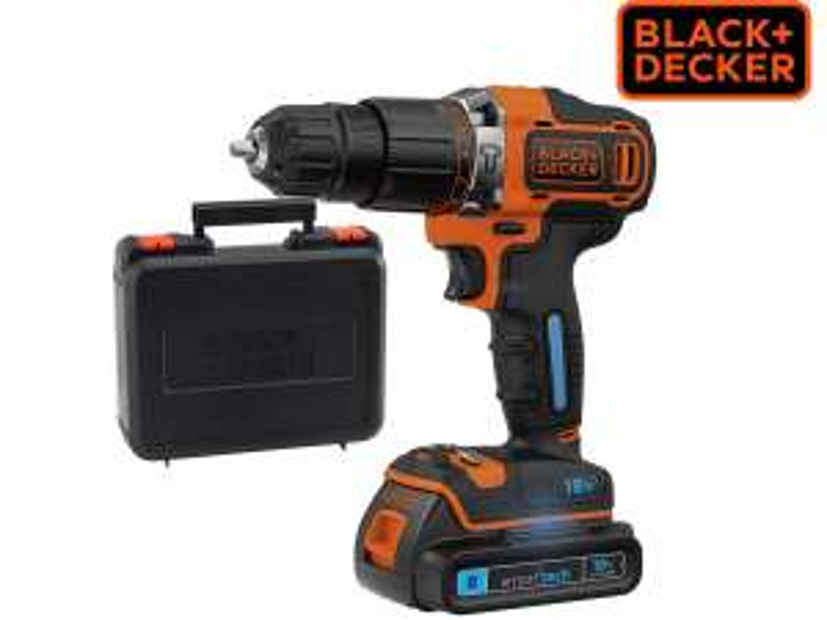 Black&Decker BDCHD18KST SmartTech Akku-Schlagbohrschrauber inkl. Koffer + Akku für 65,90