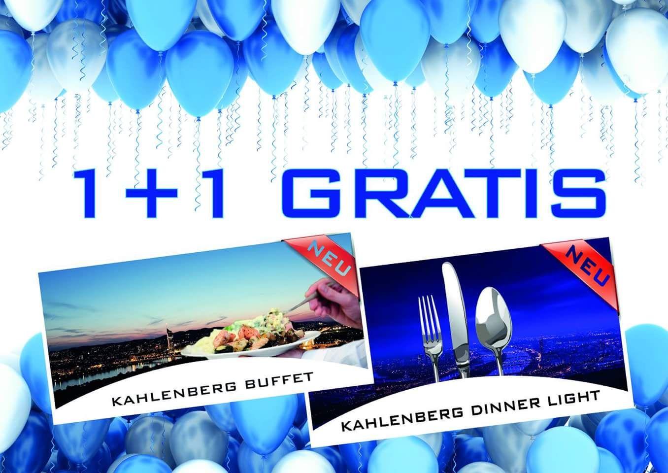 1+1 Gratis auf Kahlenberg Buffet und Kahlenberg Dinner Light