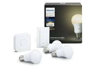 "Philips ""Hue White E27"" LED Starter Set - 3 Lampen inkl. Bridge und Dimmschalter"