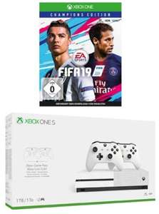 Xbox One S 1TB Konsole - Bundle inkl. 2. Controller + 3 Monate Gamepass + 14 Tage Live Gold + FIFA 19 - Champions Edition | Xbox One - Download Code für 270,25€