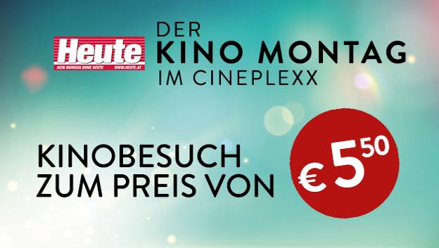 """""""Heute""""-Kino-Montag: Eintritt um nur 5,50 Euro in allen Cineplexx- und Constantin-Film-Kinos!"""