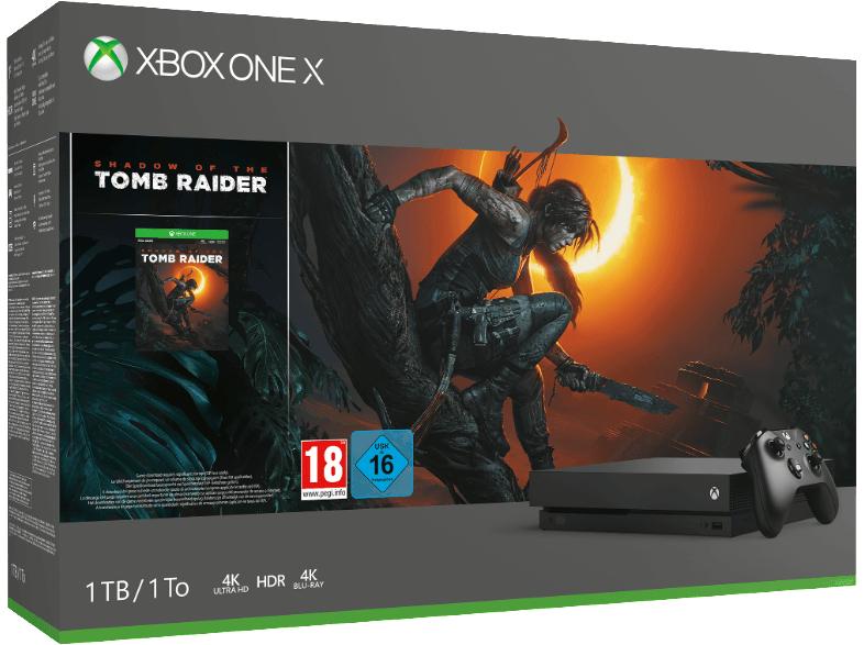 Xbox One X 1TB - Shadow of the Tomb Raider Bundle + FIFA 19 für 416,10€ inkl. VSK (MS Store Schweiz), Versand aus Niederlande