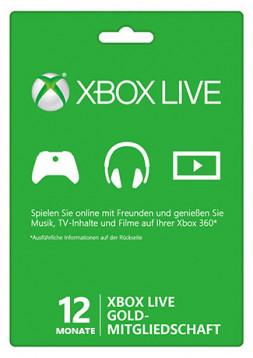 XBox Live Gold 1 Jahresmitgliedschaft um 38,60€