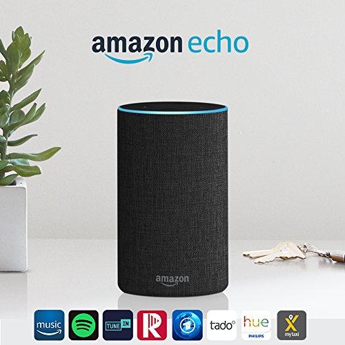 Amazon Echo (2. Gen.), Intelligenter Lautsprecher mit Alexa für 69,99€