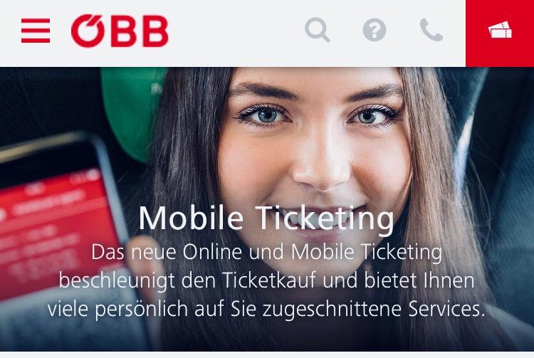 ÖBB -> mobile Tickets in der App