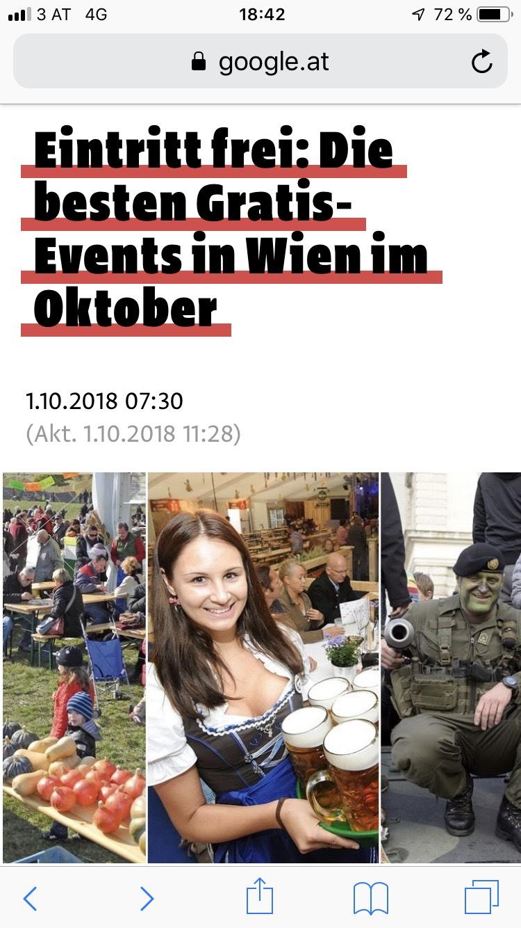 Eintritt frei: Die besten Gratis-Events in Wien im Oktober