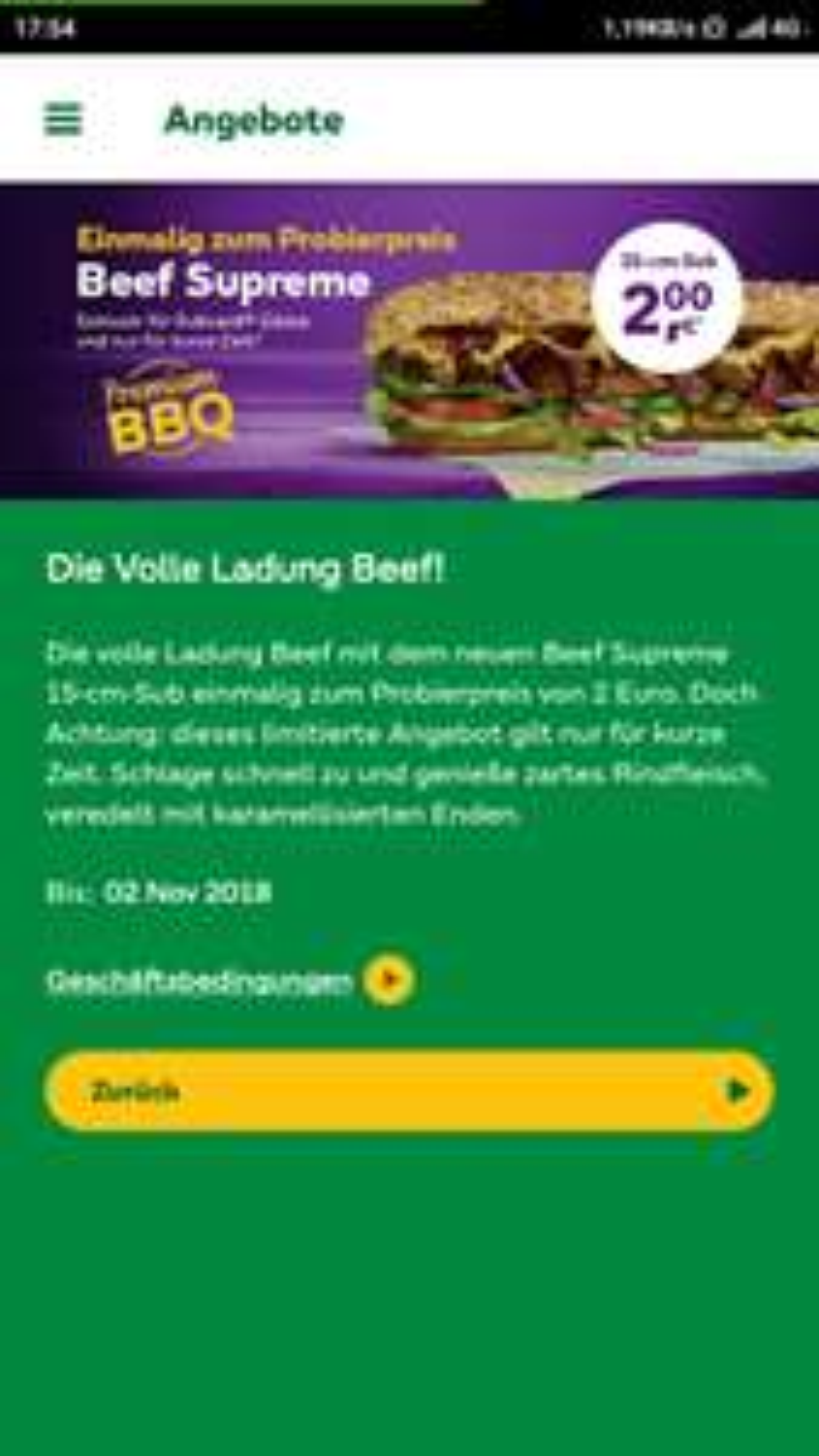 Subway Beef Supreme