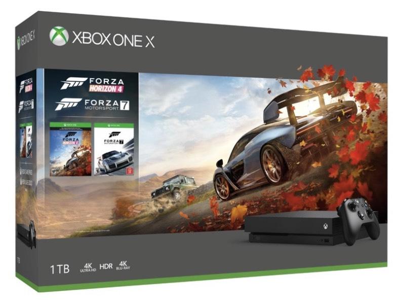 Xbox One X 1-TB-Konsole – Forza Horizon 4+Forza 7+ Fifa 19 für ~411€