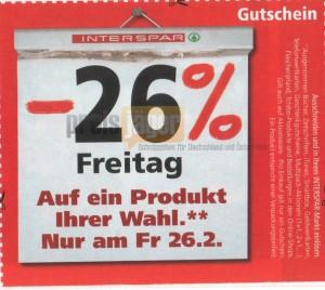 """KNALLER! 26% Rabatt bei Interspar auf alles - Playstation 3 für 221€, Wii für 147€, 32"""" TV für 295€"""