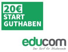 Educom: 20 € Sofort-Rabatt auf ALLE Tarife