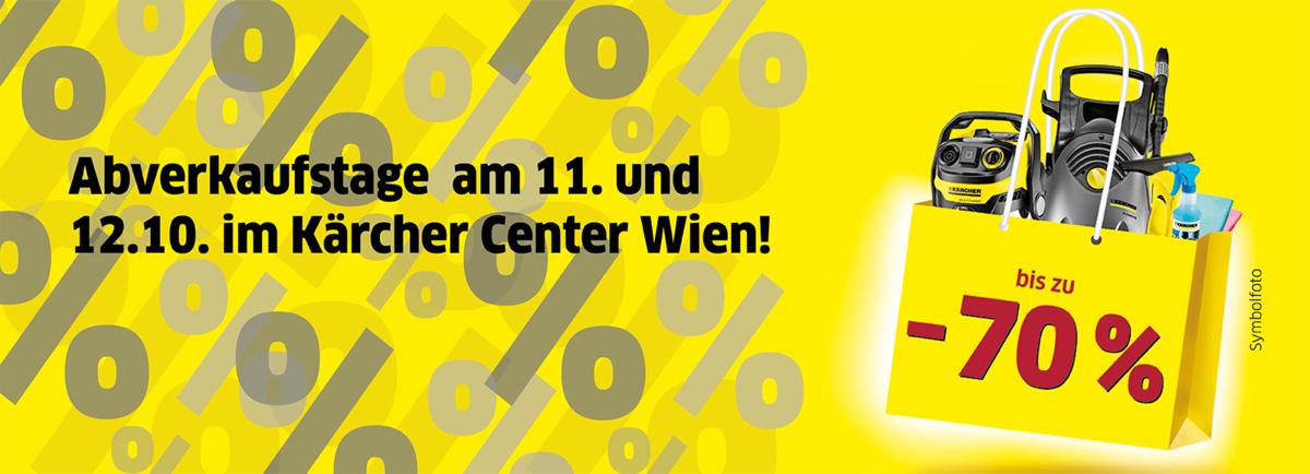 Jährlicher Abverkauf im Kärcher Center Wien