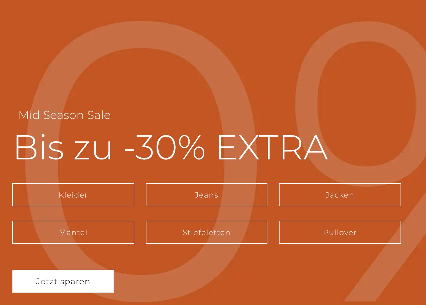 AboutYou: bis zu 30% Extrarabatt auf Mid Season Sale (auch auf reduzierte Ware)
