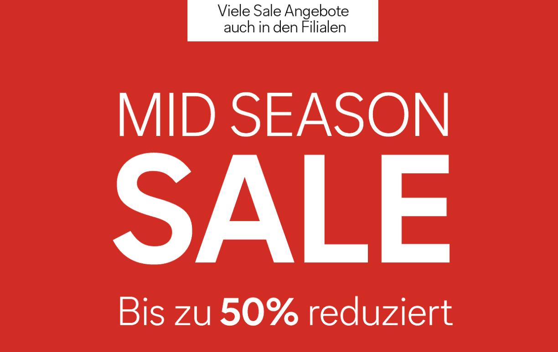 C&A: Mid Season Sale - bis zu 50% reduziert