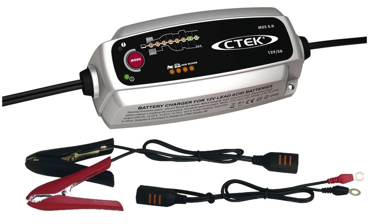 CTEK MXS 5.0 Batterie Ladegerät für Auto- und Motorradbatterien