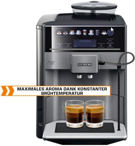 Saturn Linz: Siemens Kaffeevollautomat EQ.6 plus S100 TE651509DE