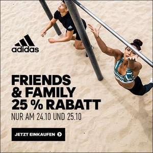 adidas: Friends & Family -25% auf fast alles im Outlet