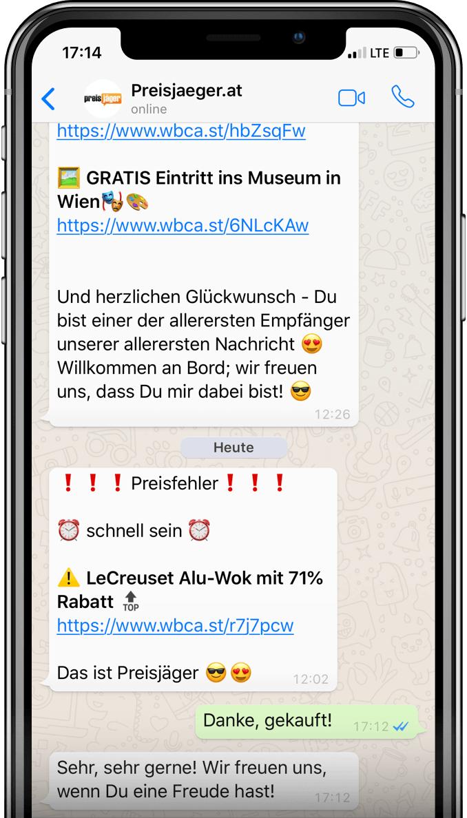 Preisjäger auf WhatsApp
