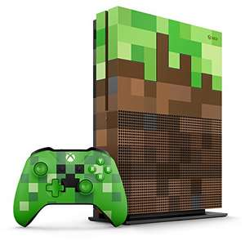 Xbox One S (1TB, Limited Edition, grün) + Minecraft
