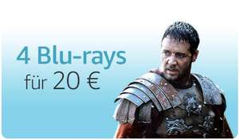 Amazon.de: 4 Blu-rays um 20€