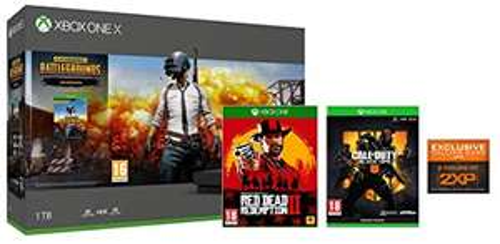 Amazon.co.uk: Xbox One X 1TB (PUBG Bundle) + Call of Duty: Black Ops 4 + Red Dead Redemption 2 SE um 472,32€
