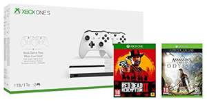 Amazon.co.uk: Xbox One S 1TB (Dual Controller Bundle) + Assassin's Creed: Odyssey Limited Edition + Red Dead Redemption 2 um 267,78€